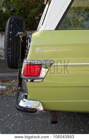 Oldtimer Car , Green Vintage Car Very Beautiful