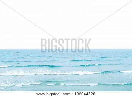 Sea With White Field For The Text