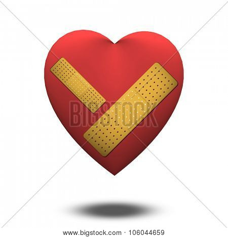 Wounded Heart with Bandage