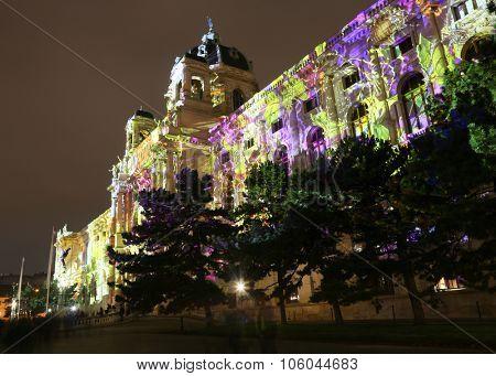Vienna, Austria - October 25. 2015: 'Wien Leuchtet/Lights In Vienna