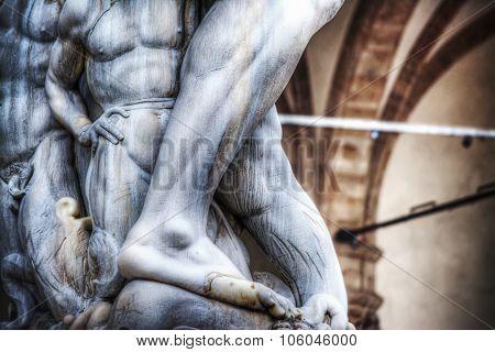 Detail Of Neptune Statue Foot