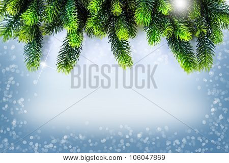 Christmas border design. Christmas Greeting Card