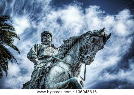 Garibaldi Statue In Pistoia