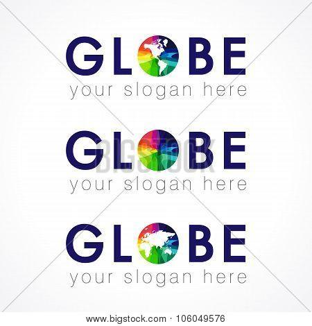 The globe logo.