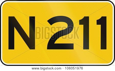 A Dutch Numbered Road Shield Of A Provincial Road