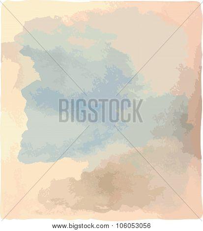 Watercolor background vector.