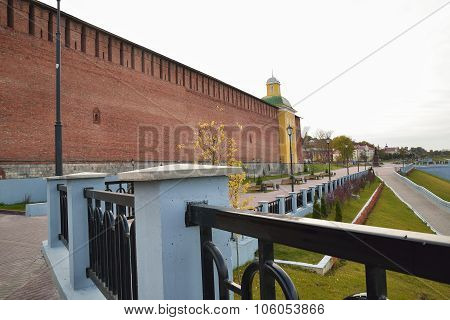 Wall of ancient fortress in Smolensk