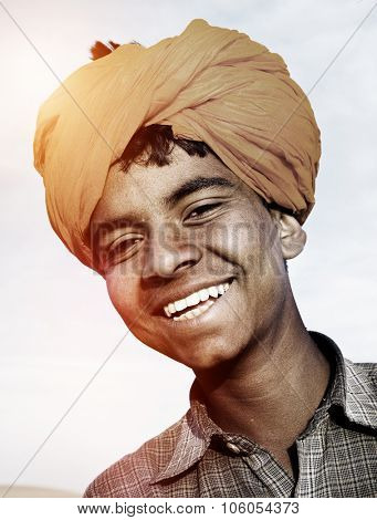 Indigenous Indian Boy Smiling At The Camera Concept