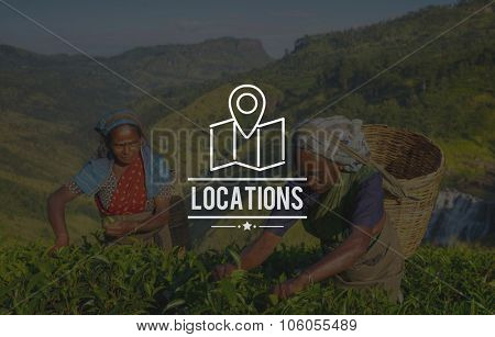 Locations Traveling Destination Navigation Vacation Concept