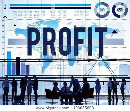 Profit Accounting Benefit Earning Finance Concept