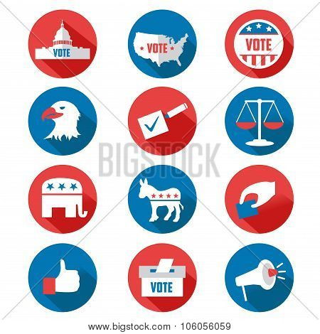 Usa Presidential Election Icons
