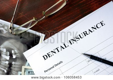 Dental insurance form.
