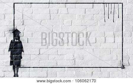 Graduate Education Student Brick Wall Copy Space Concept