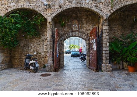 Gate Of The Old Town Of Budva, Montenegro