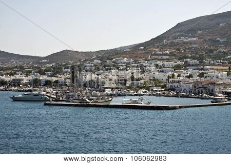 Picturesque Port, Paros, Greece