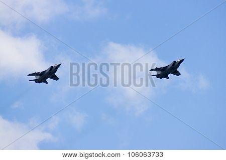 Group Su-24 Performing Aerobatics At An Airshow
