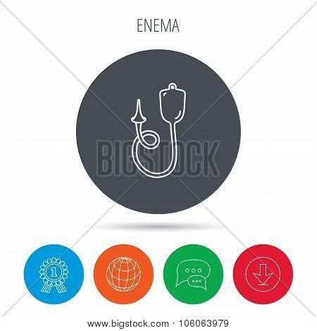 Enema icon. Medical clyster sign.