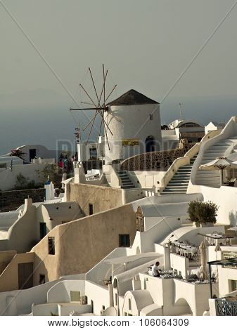 Santorini Greece - September 19 2015: Santorini Thera and officially Thira Greece on September 19 2015- Santorini is an island in the southern Aegean Sea.