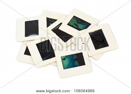 Photo frames for slide isolated on white background