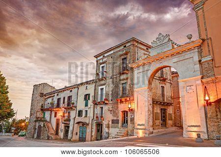 Old City Door In Guardiagrele, Abruzzo, Italy