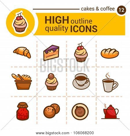 bakery color icons