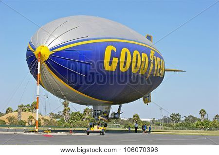 Goodyear Blimp Docked