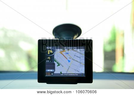 Car video recorder on window