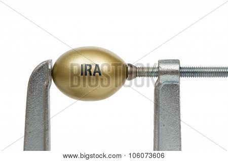 Golden Egg In Metal Clamp - IRA