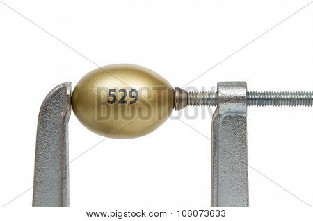 Golden Egg In Metal Clamp - 529 College Savings