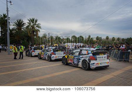 WRC Cars in Salou ,Spain