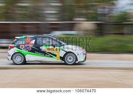 WRC Car in Salou , Spain