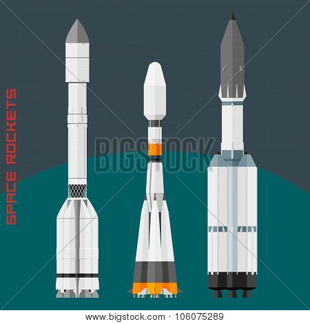 Russian Space Rockets Set