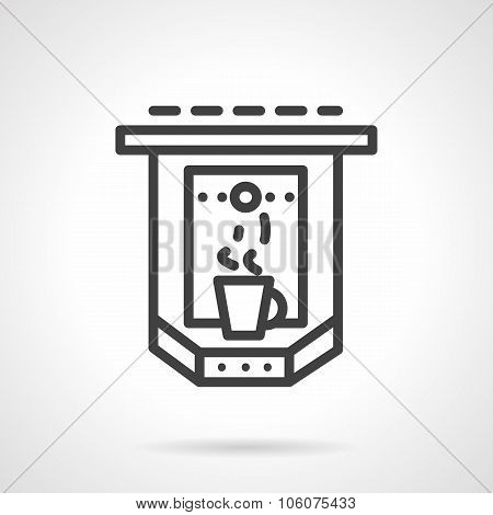 Espresso machine simple line vector icon