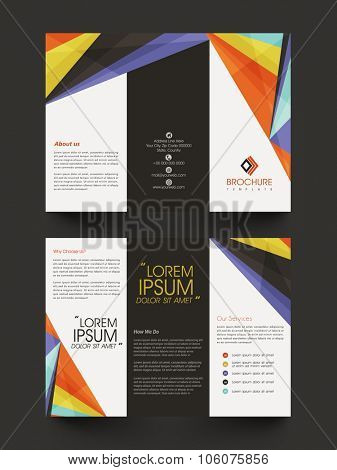 Colorful creative abstract decorated, Professional Busienss Trifold, Flyer, Banner, Template or Catalog design.