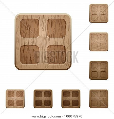 Large Thumbnails Wooden Buttons