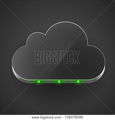 Cloud technology computing concept led cloud.