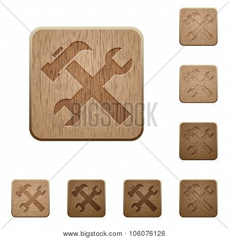 Tools Wooden Buttons