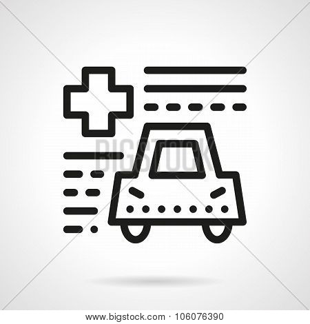 Driver insurance abstract line vector icon