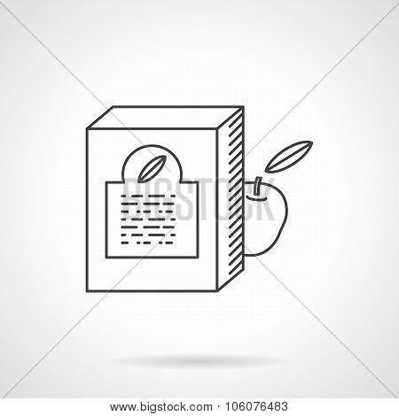 Baby food box flat line vector icon