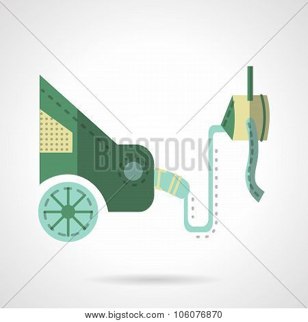 Automobile emission test flat vector icon