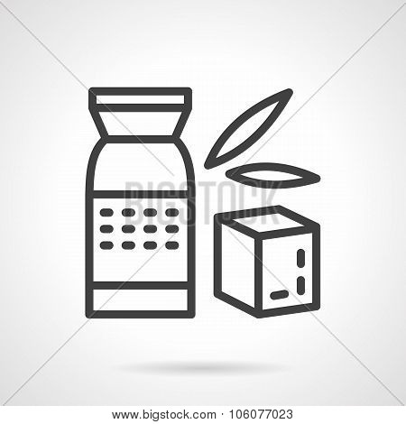 Whole cereal pack simple line vector icon