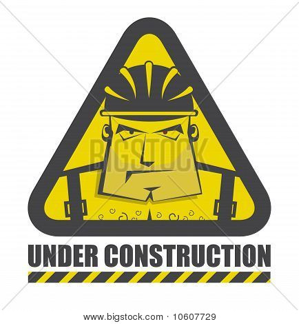 Vector Under Construction Icon For Internet Site