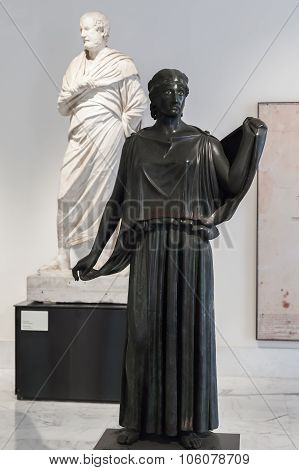 Bronze Statue In Naples National Archaeological Museum, Italy