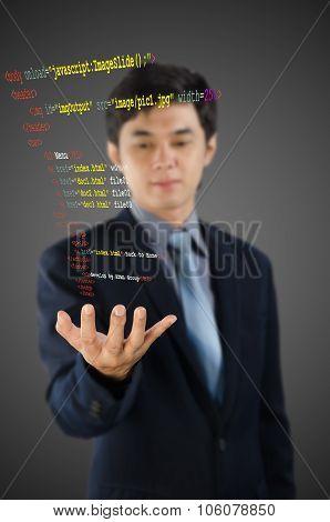 Programmer Writing Html Code