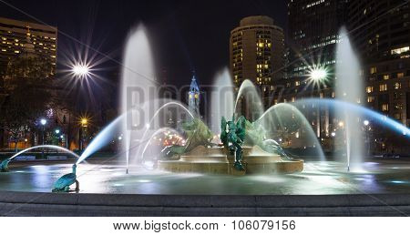 Philadelphia's Logan Circle Fountains