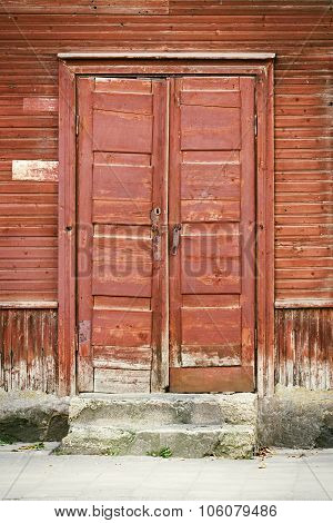 door of old house