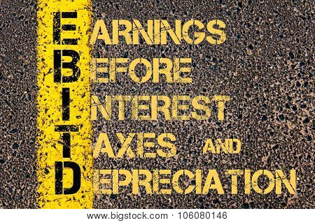 Business Acronym Ebitd As Earnings Before Interest, Taxes And Depreciation