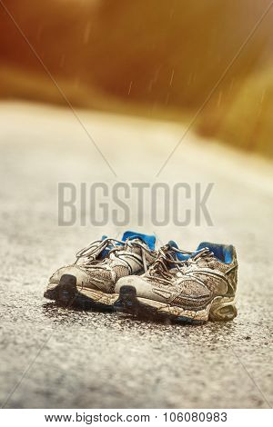Worn-out Mens Running Shoes