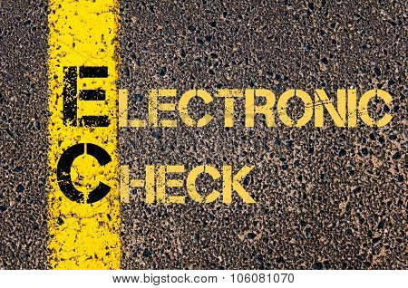 Business Acronym Ec As Electronic Check