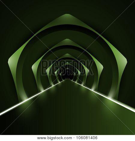 vector runway/corridor illustration